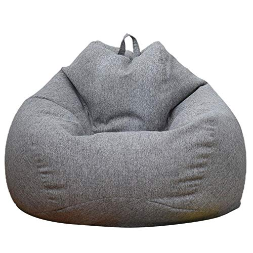 Classic Bean Bag Chair Sofa Cover, Lazy Lounger Bean Bag Storage Chair Cover with Handle for Adults and Kids Without Filling, Home and Garden Rest Bean Bag Chair Anti-Dirt Cover