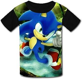 guoweiweiB Camisetas de Manga Corta para niño, Forest So-N-IC The Hedgehog Boys/Girls T-Shirts Youth Tees Short Sleeves Pu...