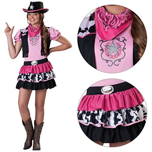Amscan Déguisement rose de cow-girl pour filles avec chapeau et bandana