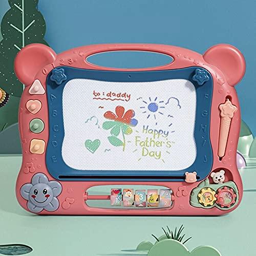 Tablero De Dibujo Magnético para Niños, Tablero De Escritura, Juguetes De Graffiti para Bebés Y Niños Pequeños, Adecuados para La Educación De La Primera Infancia, Tamaño: 12.8x16.9in,Coral Pink