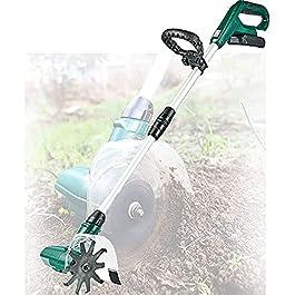 TSMALL Scarificateur électrique sans Fil Portable, motoculteurs de Jardin avec Batterie Rechargeable, cultivateur…