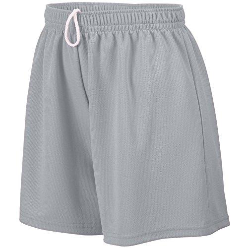 Augusta Sportswear Women#039s Small Wicking Mesh Short Silver Grey