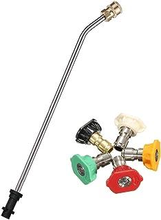 Limpiador de varilla de alcantarillado a presión, 35 cm, acero inoxidable, barra de extensión angulada, arandela a presión...