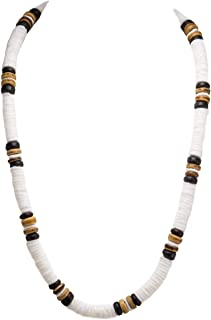 BlueRica Puka Shells Necklace with Coconut Wood Beads