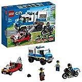 LEGO City Police Trasporto dei Prigionieri della Polizia, Set di Espansione Stazione della Polizia, 60276