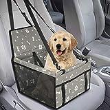 GeeRic Hunde Autositz für Kleine Mittlere Hunde Hochwertiger Auto Hundesitz für kleine bis mittlere Hunde - Verstärkte Wände und 3 Gurte - Wasserdichter Hundeautositz