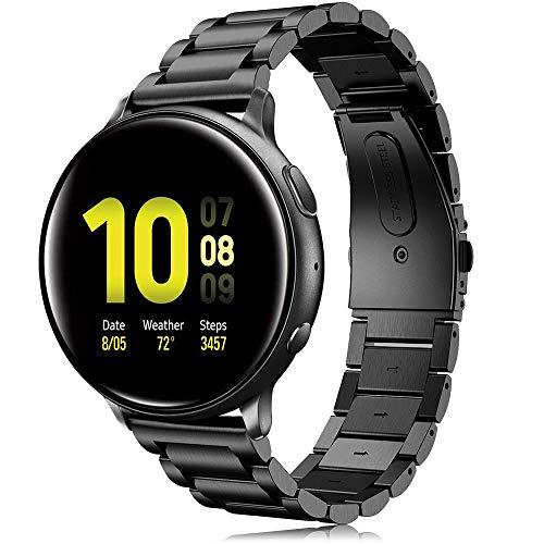 Correa para Galaxy Watch Active 2 40mm 44mm, 20 mm Correa de Reloj de Acero Inoxidable de Correa para Galaxy Watch 42mm/Galaxy Watch3 41mm/Gear Sport/Gear S2 Classic/Vivomove/HR