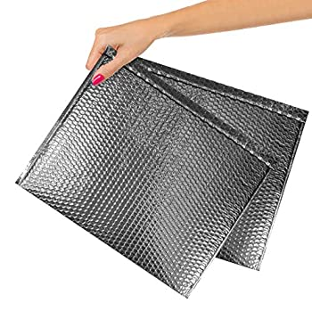 ABC Pack of 10 Metallic Silver Bubble Mailers 12.75 x 10.5 Silver Padded Envelopes 12 3/4 x 10 1/2 Glamour Bubble Mailers Peel & Seal Mailing Envelopes for Shipping Packing Packaging Wholesale.