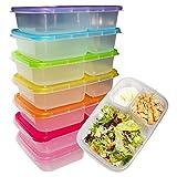 Kurtzy Bento Lunchboxen (7 Set) - 3 Fächern Brotdose mit Deckel - Bento Lunch Box für Kinder und...