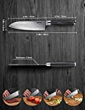Deik Küchenmesser, Professionelle Damastmesser Kochmesser aus VG10 Edelstahl mit Scharfer Klinge und Ergonomischem Griff - 5