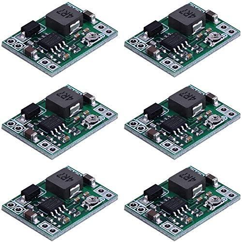 Greluma 6 Piezas MP1584EN convertidor Reductor Reductor Ajustable DC-DC 4,5-28V a 0,8-20V módulo regulador de Voltaje de Fuente de alimentación 24 V a 12 V 9 V 5 V 3 V