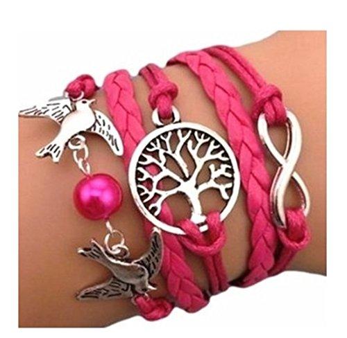 Infinity Bijoux - Pulsera infinito árbol de la vida, paloma y perla / eternidad /one...