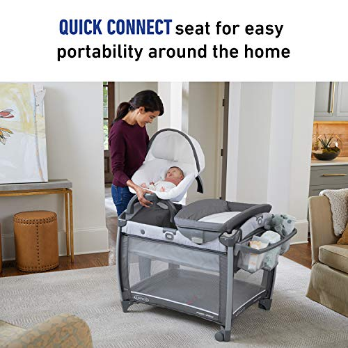 Graco Pack 'N Play Quick Connect DLX Playard | Includes Portable Seat