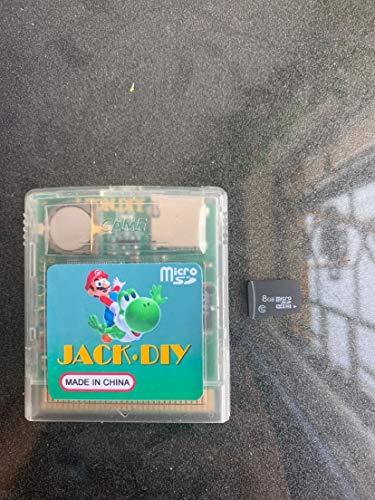 Jack diy GB / GBC cartucho de juego flash+8GB SD tarjeta de juegos