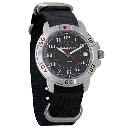 Vostok Komandirskie Ejército mecánico para hombre reloj de pulsera militar Komandirskie caso reloj #431186