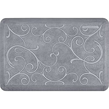 WellnessMats EB32WMRWGRY Estates Collection Anti-Fatigue Kitchen Mat, 3 x 2 Foot, Beach Glass