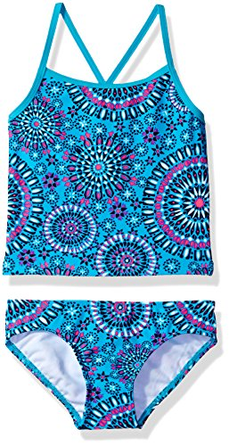 Kanu Surf Girls#039 Big Beach Sport 2Pc Banded Tankini Swimsuit Melanie Aqua 8