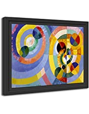 Printed Paintings Marco Americano (38x30cm): Robert Delaunay - Formas Circulares (1930)