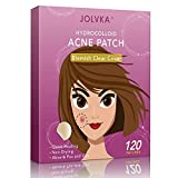 JOLVKA Acne Pimple Patches (120 Patches), Tea Tree Oil and Hydrocolloid Spot Dots for Face(2 Sizes), Pimple Patch Stickers