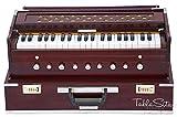 Maharaja Musicals, Folding Harmonium Instrument, In USA, 9 Stops, Rosewood Color, Safri, 3 1/2 Octave, Coupler, Bag, Tuned To A440, Musical Instrument Indian (PDI - 186)