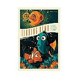 Findet Nemo Leinwand-Kunst-Poster und Wand-Kunstdruck,
