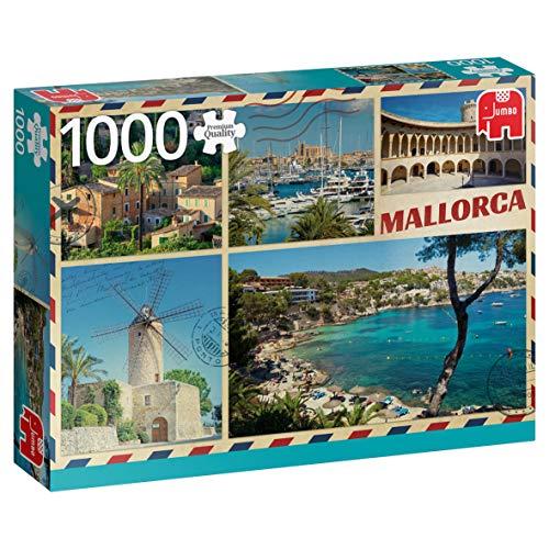 Premium Collection 18836 - puzzel met Engelse groeten van Mallorca, 1000 delen