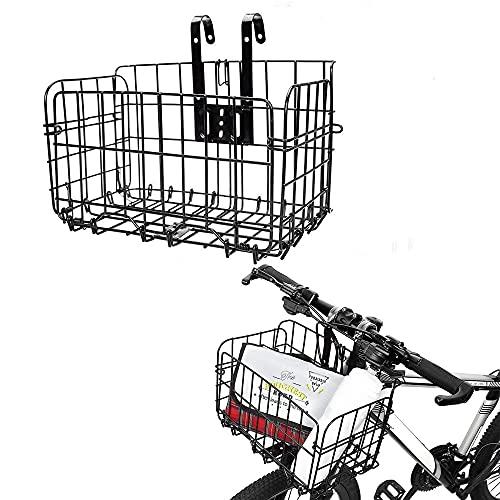 Cesta de Bicicleta, Plegable Cesta para Bicicleta, Desmontable Cesta de Bicicleta, Bolsa Delantera Colgante Trasero Cesta de Bolsa de Bicicleta, Multifuncional Estante de Carga para Accesorio