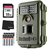 Bushnell Natureview Trail Cam 119739 12MP Essential HD Green Low Glow + 32GB SD Card, 8 AA Batteries and Lens Cleaning Cloth