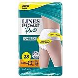 Lines Specialist Pants Extra Unisex per Incontinenza Uomo e Donna, Taglia XL, Confezione da 28 Pezzi