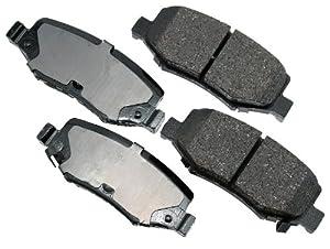 Akebono ACT1274 Proact Ultra Premium Ceramic Disc Brake Pad kit