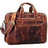 STILORD 'Nelson' Businesstasche Herren Leder 15,6 Zoll Laptoptasche Groß Aktentasche Umhängetasche aus Vintage Rindsleder, Farbe:Kara - Cognac