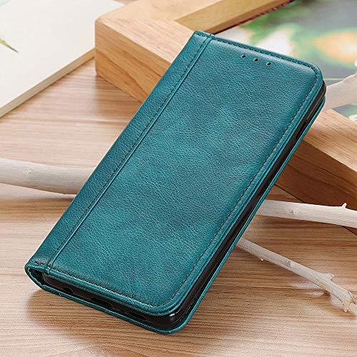 Brieftasche Hülle für Motorola One Fusion Plus Flip Ledertasche mit Halterungsfunktion Handyhülle Kompatibel mit Motorola One Fusion Plus(Grün)
