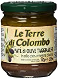 Le Terre di Colombo Patè di olive Taggiasca in Olio Extravergine di Oliva (10%), Confezione da 6, 212 ml