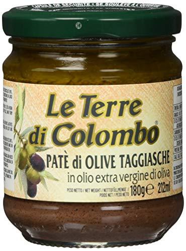 Le Terre di Colombo – Taggiasca-Olivenpaste in nativem Olivenöl extra (10 {0af683f6f10df34a610c3160e0bf72c4323deb318ef54466ffe6cc2022ac32c0}), 6er-Packung, 212 ml