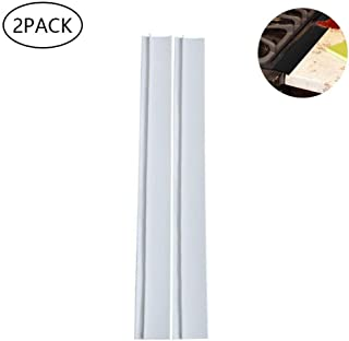 Placemat Kitchen Silicone Gap Cover,2pcs Stove Counter Gap Cover Heat-Resistant Slit Fill Easy Clean Gap Filler (White) (Color : White)