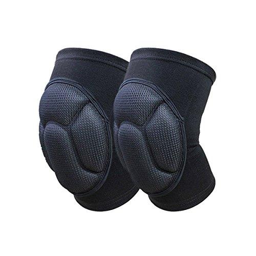 Dealit Ispessimento Ginocchiera Estrema Knee Pad Eblow Sostegno del Gancio Protector Lap Ginocchio per Calcio Pallavolo Ciclismo Sport