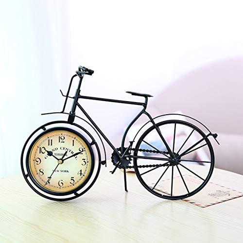 Reloj con forma de bicicleta vintage Relojes de mesa silenciosos creativos Retro Decorativo para el hogar para sala de estudio Café