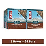 Clif Bar Energy Bars – Bulk Snacks - Chocolate Chunk w/ Sea Salt (6 Packs, 36 Total Protein Bars)