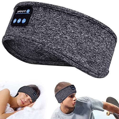 Schlafkopfhörer Bluetooth,Schlaf Kopfhörer Bluetooth 5.0 Schlafkopfhoerer mit Ultradünnen HD Stereo Lautsprecher,Schlafmaske Musik Augenmaske für Nickerchen,Sport,Yoga und Reisen