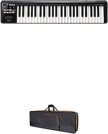 Controlador de teclado MIDI Roland A-49 con funda de ...