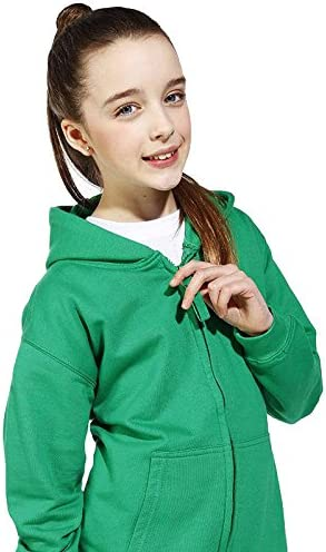 Awdis Kids Boys Girls Zipped Hoodie Hoody Hooded Top