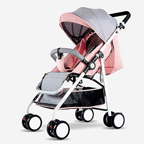 JIAO Carrito de bebé Cochecito de bebé Alto Paisaje El Cochecito de bebé Puede Sentarse reclinado Ligero Plegable Amortiguador Paraguas niño niño bebé Coche (Color : D)