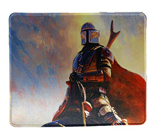 The Mandalorain Star Wars Mouse Pad Oil Painting 12x10 Inches Office Gaming Collection Mousepad