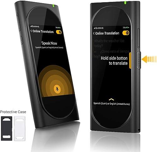 Langogo Genesis Portable Language Translator Device, 100+ Languages Pocket Translator, Real-time Voice Translator wit...
