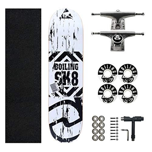 skateboard erwachsene Skateboard 31-Zoll Double Kick Kick Dance Shortboard Skateboard Komplettes Board Longboard Einfach zu navigieren, Anfänger Teen Adult Professional Brush Street Skateboard skate