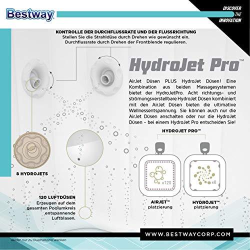 Bestway Lay-Z-Spa Hawaii HydroJet Pro 180 x 180 x 71 cm, jacuzzi autogonflant avec fonction massante