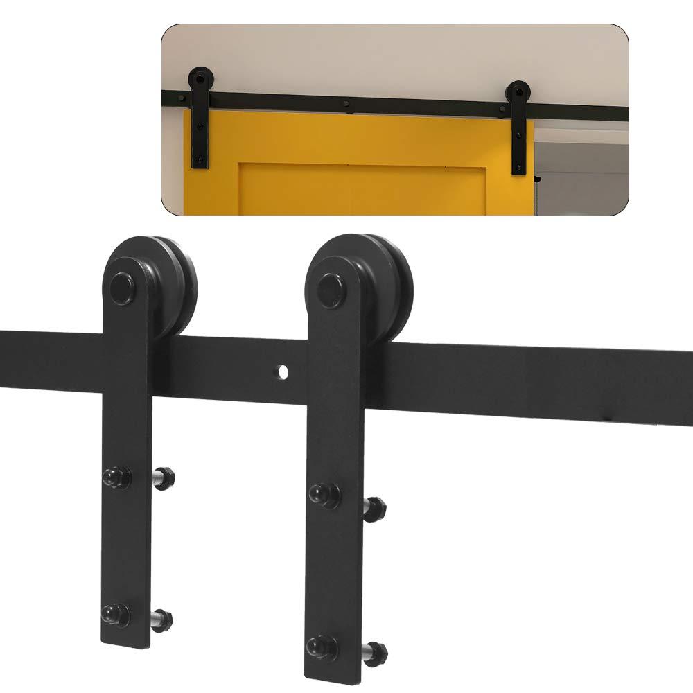 CCJH 5FT 153CM Acero Herraje para Puerta Corredera Kit de Accesorios para Puertas Correderas Juego de Piezas de Carril para Una Puerta, Con Un Regalo Gratis: Amazon.es: Bricolaje y herramientas