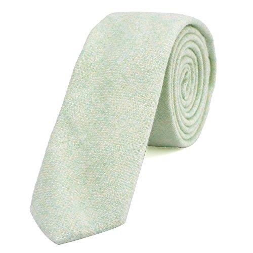 DonDon Corbata estrecha de algodón para hombres de 6 cm - verde pastel