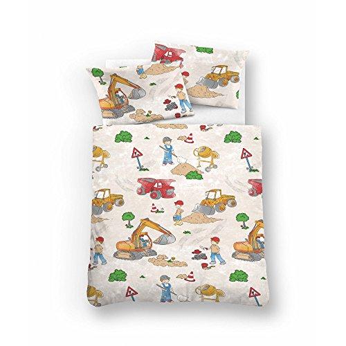 biberna 0007232 Feinbiber Bettwäsche Kids & Teens Garnitur mit Kopfkissenbezug (Baumwolle) 1x 100x135 cm + 1x 40x60 cm, frappé
