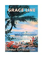Travel Ocean Cruise Grace Caribbean South America USA Wall Art Print 旅行海洋クルーズ南アメリカアメリカ合衆国壁